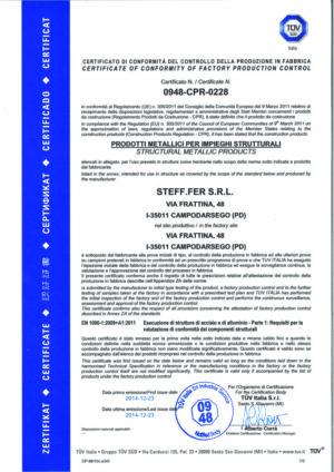 Certificazione prodotti metallici per impieghi strutturali